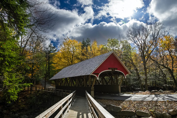covered bridge in franconia notch state park