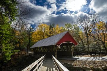 covered bridge in franconia notch state park