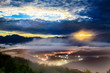 Sunrise with nice mountain
