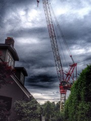 Construction boom in old city