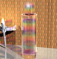 Rainbow colors perfume bottle