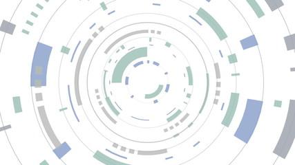 Animation of a futuristic white hud