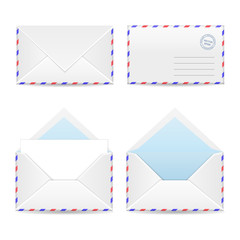 Set of white envelopes