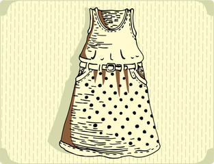 women fashionable dress vector image