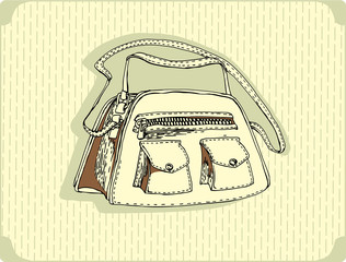 women fashionable bag vector image