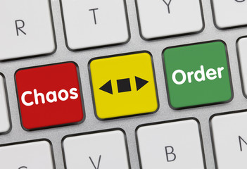 Chaos or order. Keyboard