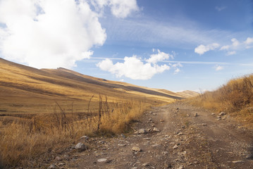 Mountain Dirt Road in Armenia