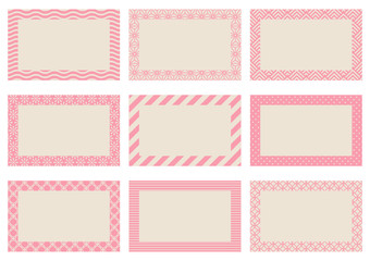Label Retro Pattern Beige/Rose