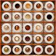 caffè in bacheca fondo legno