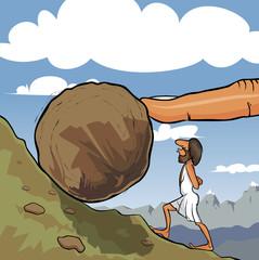 Roll a boulder
