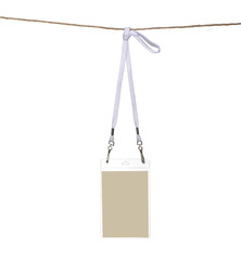 Security ID Pass hanging on a rope