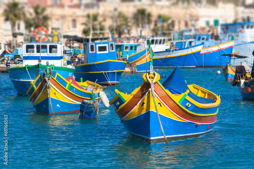 Colored fishing boats, Malta - 68166563