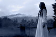 Mysterious Woman in White Dress