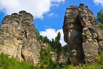 Prachovske rocks in Bohemian Paradise - Czech republic