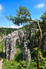 Prachovske rocks in Bohemian Paradise - Czech republic