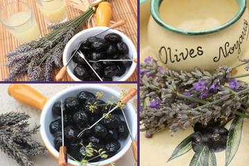 Apéritif Provençal au Pastis  : Olives  noires