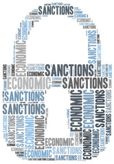 Tag cloud illustration related to economic sanctions