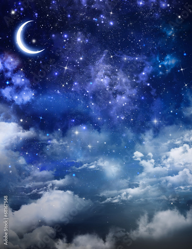 beautiful background, nightly sky - 68167568