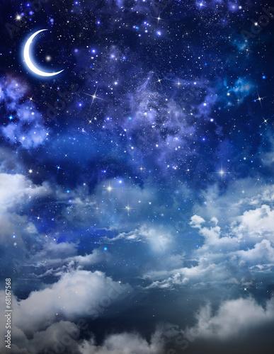 obraz lub plakat piękne tło, nocne niebo