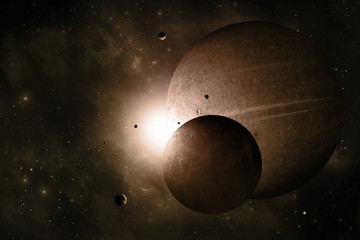 Space Planets Background