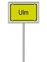 Ulm - Ortsschild