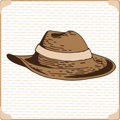 men fashionable hat vector image