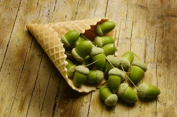 Gelato alla ghianda Acorn ice cream Speiseeis eichel