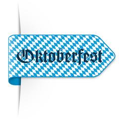 Sticker Pfeil mit bayrischem Muster – Oktoberfest