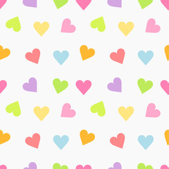 Cute seamless hearts