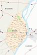 st louis Karte mit Hauptverkehrsstraßen und den Stadtteilen