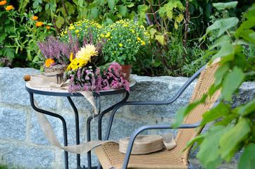 Garten Herbst Country Style