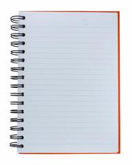 Orange cover of notebook
