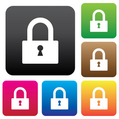 Lock sign icon