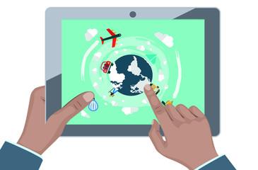 Concepto negocio en la nube seguridad y venta