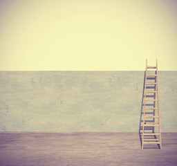 Ladder and a wall