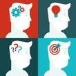 Vector human thinking concept