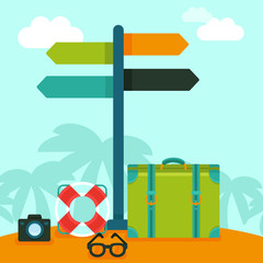 Vector travelling concept in flat style