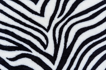 The texture of fabric stripes zebra