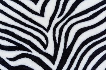 The texture of fabric stripes zebra