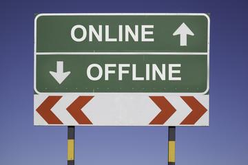 be online not offline