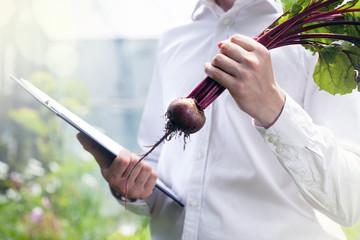 Beet contol in a garden