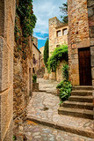 Fototapety Famous medieval Town Pals, Costa Brava, Spain.