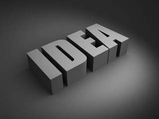 IDEA word letters in ray of light
