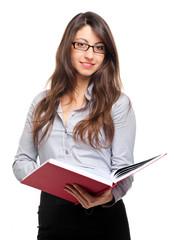 Young teacher holding a book