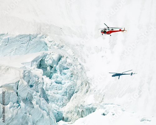 Papiers peints Hélicoptère Mountain Rescue Helicopter