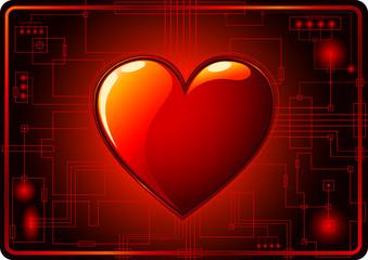 Dark Valentines Day Background
