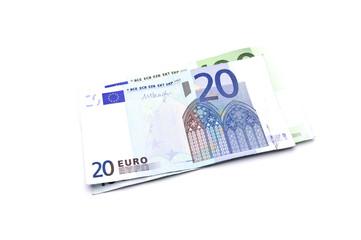 20 euros on a white background