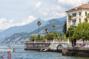 Promenade in Menaggio on Como lake