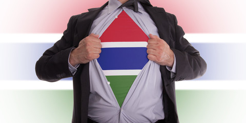 Businessman with gambia flag t-shirt