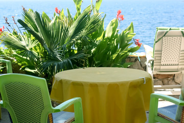 On the Terrace over the Sea